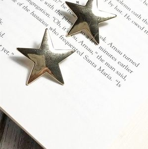 NEW 3 FOR 35 LARGE GOLD STAR STUD EARRINGS